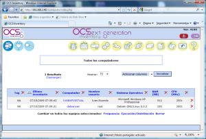 ocs inventory  pantalla principal